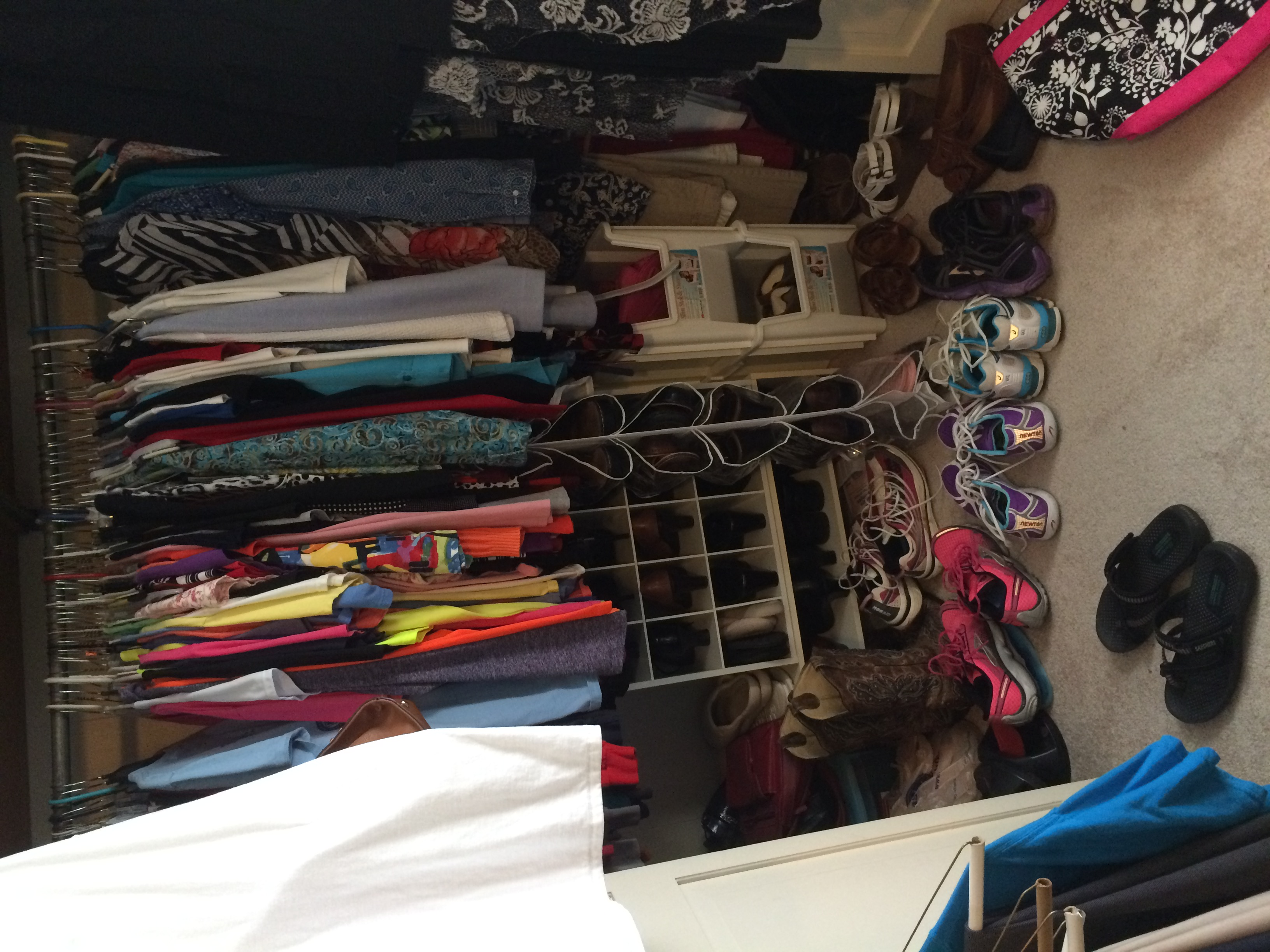 This chick has a lot of running shoes, no? (But you should see her husband's collection!)
