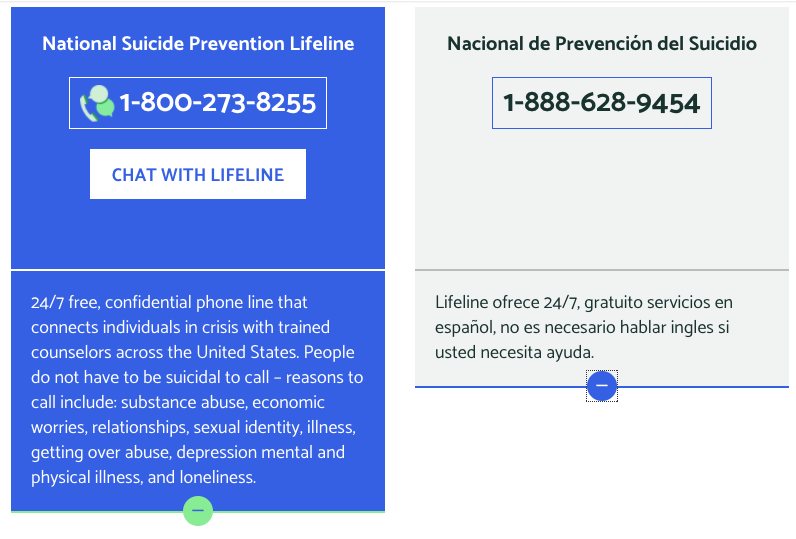 http://suicidepreventionlifeline.org/talk-to-someone-now